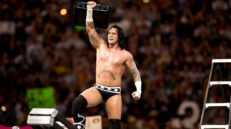 CM Punk with his Money in the Bank briefcase
