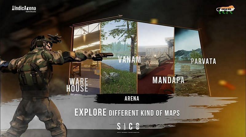 The list of maps available in the game