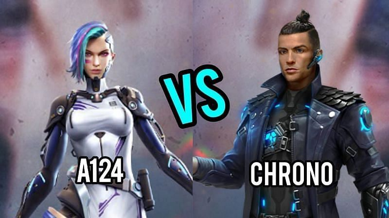A124 and Chrono are popular characters in Garena Free Fire