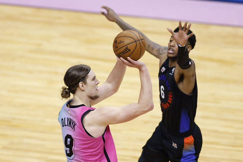 Kelly Olynyk was traded from the Miami Heat at the NBA deadline