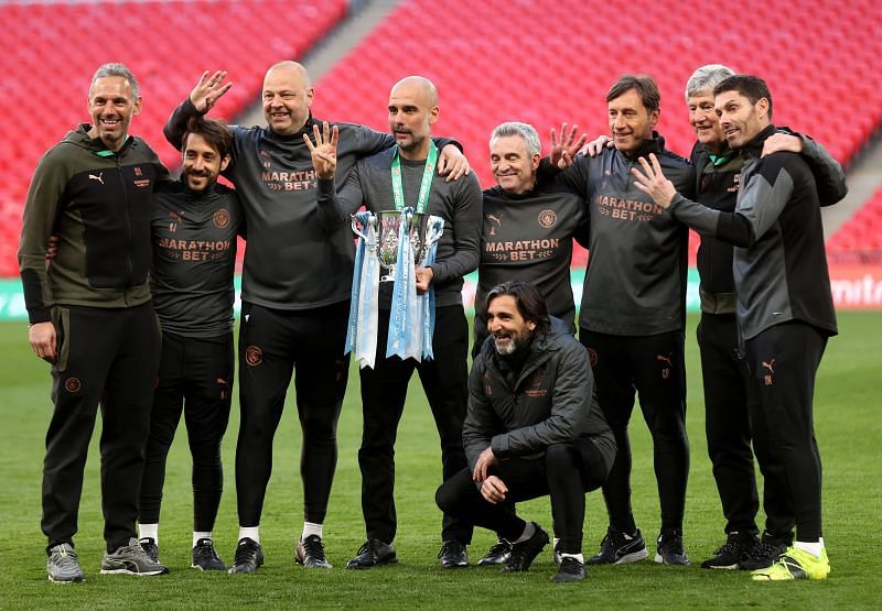 Manchester City lifted the Carabao Cup trophy after beating Tottenham Hotspur 1-0
