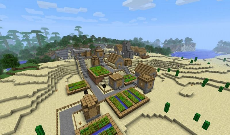 Minecraft village shelter (Image via planet Minecraft)