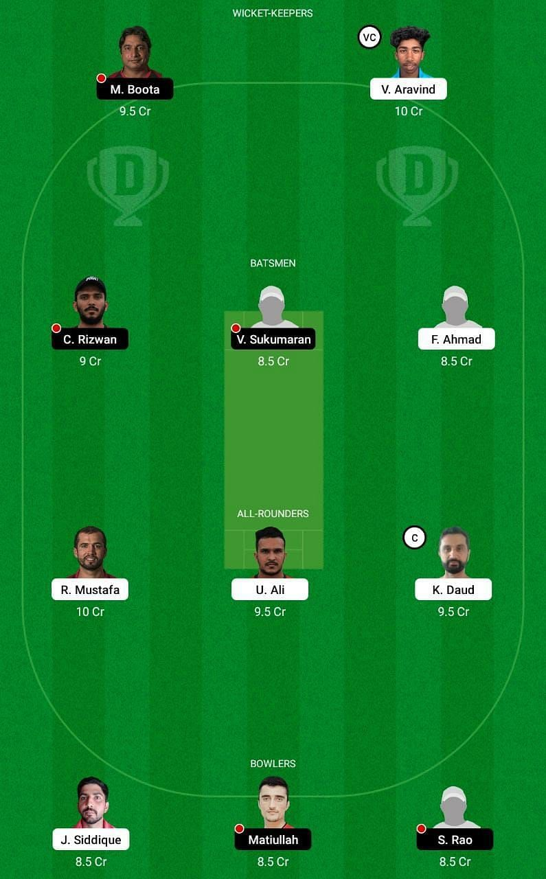 EMB vs SHA Dream11 Tips - Emirates D10 League