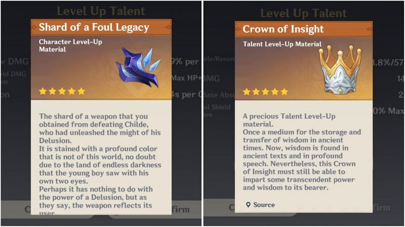 Shard of a Foul Legacy and Crown of Insight in Genshin Impact