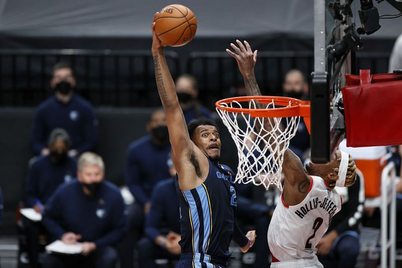 The Memphis Grizzlies in action against the Portland Trail Blazers