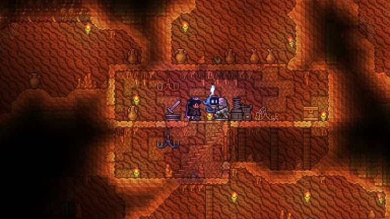 Desert Underground Cabins aren't particularly unique to any other biome's Cabins other than having a higher chance to have the Extractinator item and being the only place to find certain paintings.