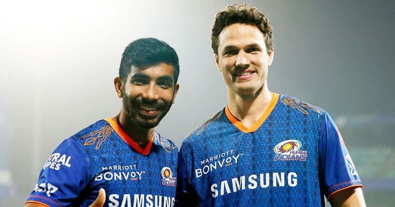 Nathan Coulter-Nile  caught up with Jasprit Bumrah after the game