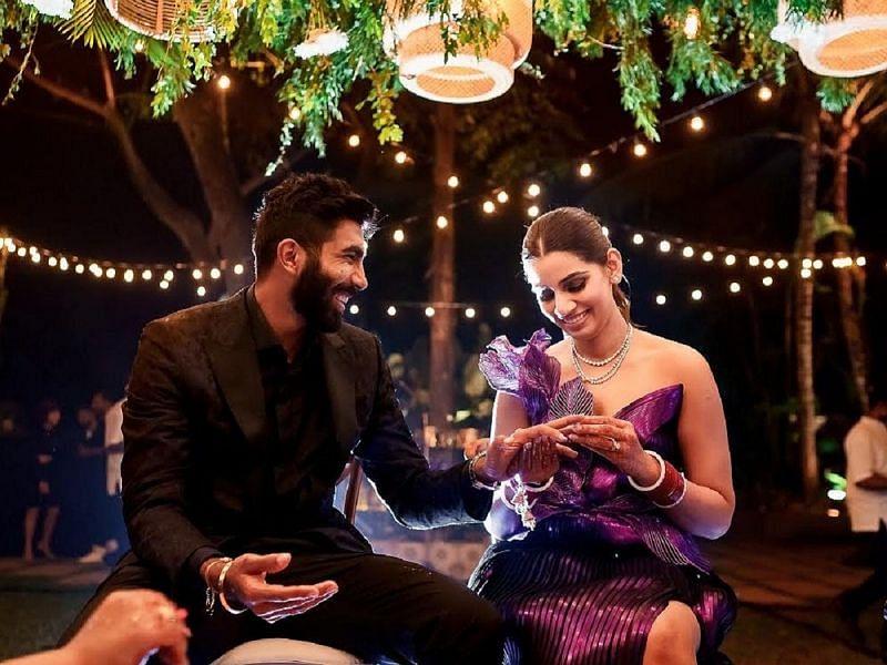 जसप्रीत बुमराह ने संजना गणेशन से शादी की थी