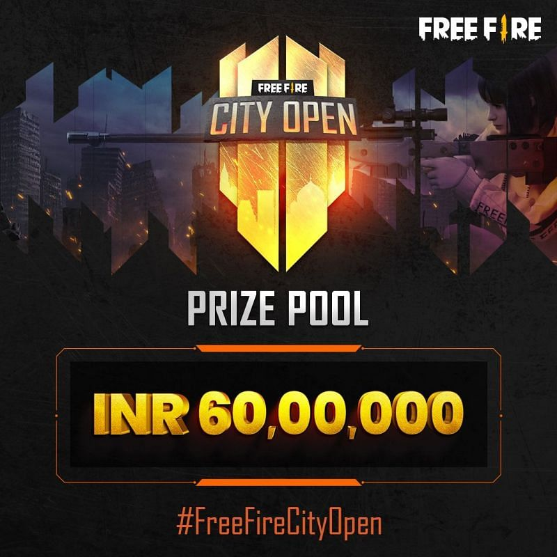 Free Fire City Open Prize Pool