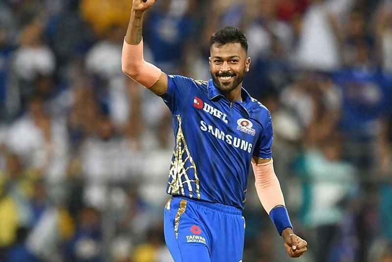 Hardik Pandya in MI colors. Pic: IPLT20.com