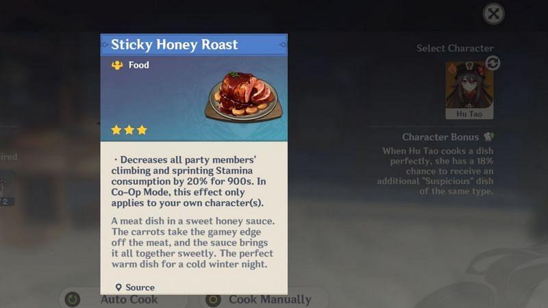 Sticky Honey Roast is a Mondstadt delicacy
