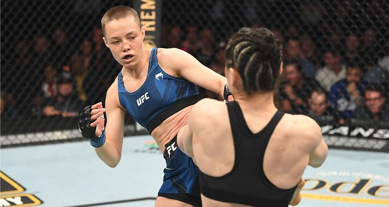 Rose Namajunas during her UFC 261 fight against Zhang Weili