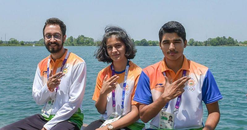 Tokyo Olympics bound shooters Abhishek Verma, Manu Bhaker, and Saurabh Chaudhary (Source: scroll.in)