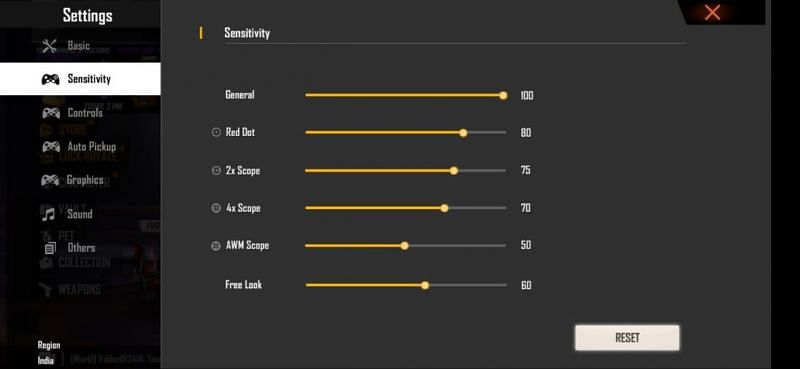 Best Free Fire sensitivity settings for beginners after the OB27 update