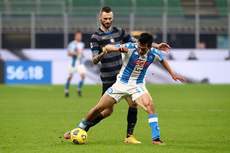 Napoli take on Inter Milan at the Diego Armando Maradona Stadium