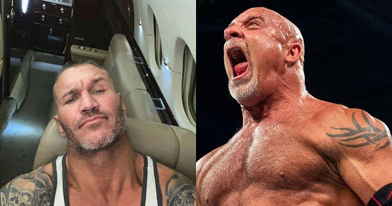 Randy Orton and Goldberg.