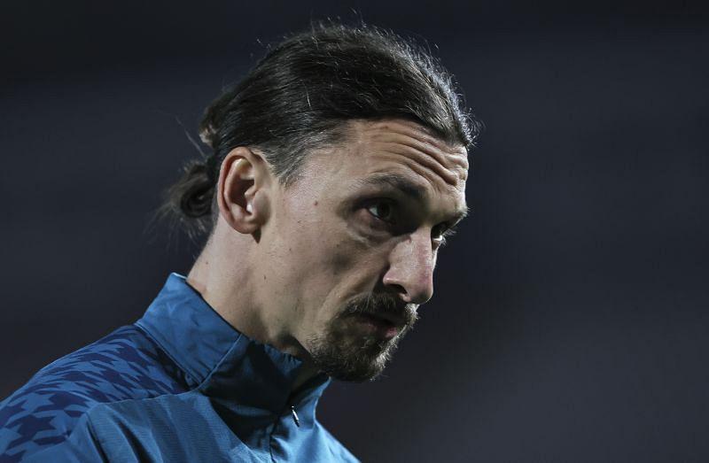 Zlatan Ibrahimovic before an AC Milan game