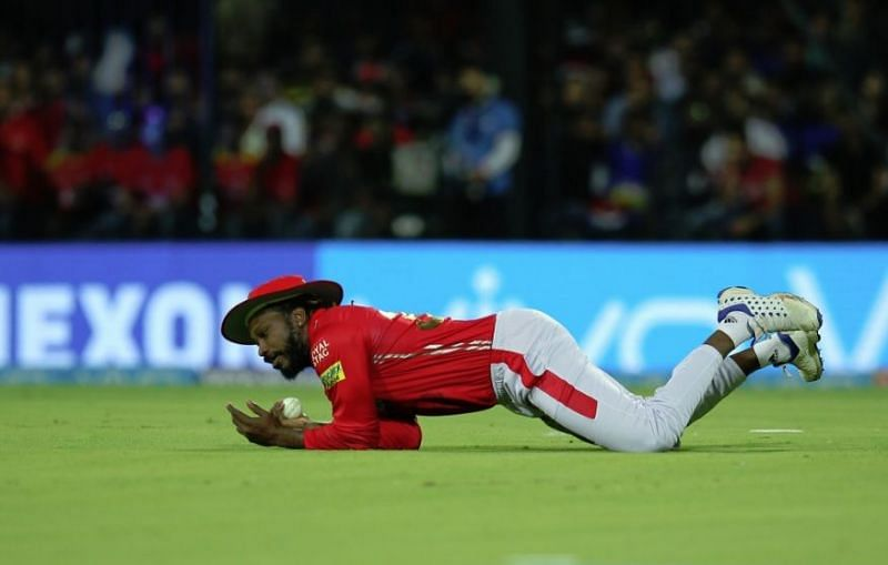 Chris Gayle in action for PBKS.