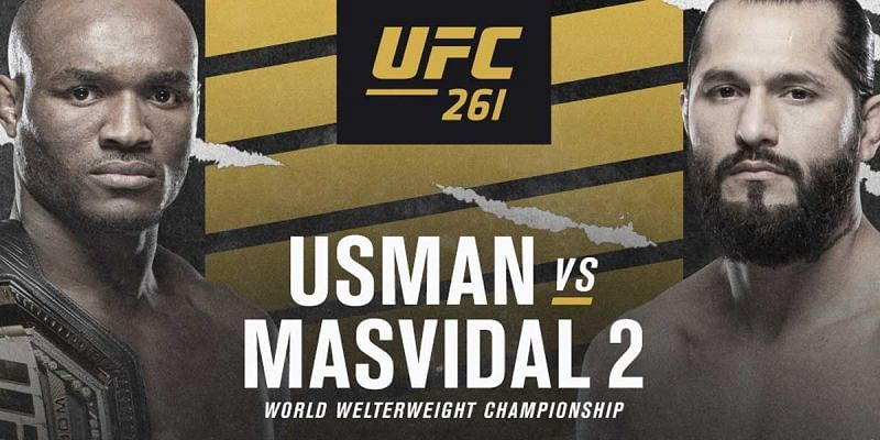 Kamaru Usman and Jorge Masvidal rematch in the main event of UFC 261 this weekend.