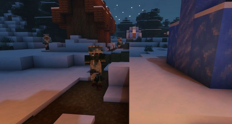 Shown: A Zombie Villager terrorizing a village (Image via Minecraft)