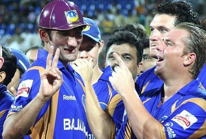 Sohail Tanvir dons the Purple Cap after Rajasthan Royals won the first-ever edition of the IPL in 2008. (Photo: Twitter)