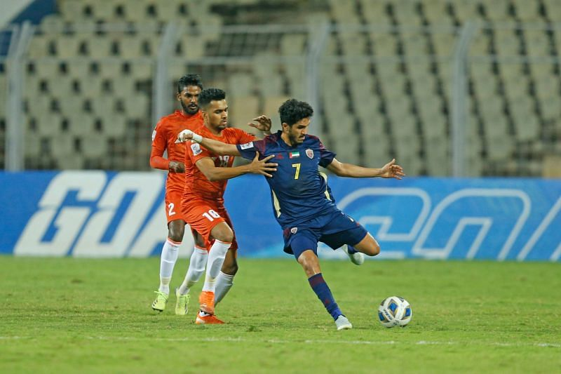FC Goa played with an all-India side against Al-Wahda (UAE) in a 2-0 loss. Image: AFC)