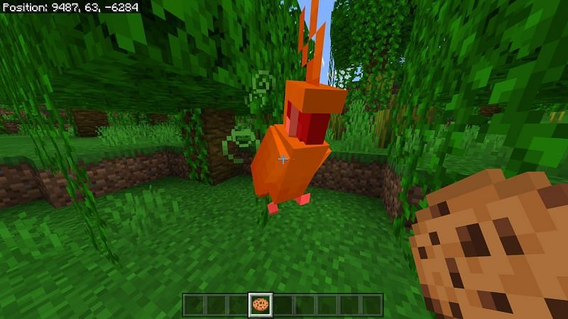 You cannot breed parrots in Minecraft