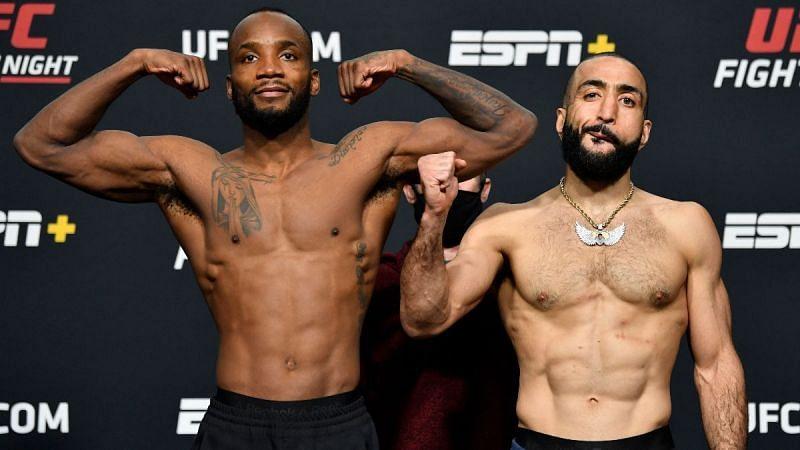 Leon Edwards (left); Belal Muhammad (right)