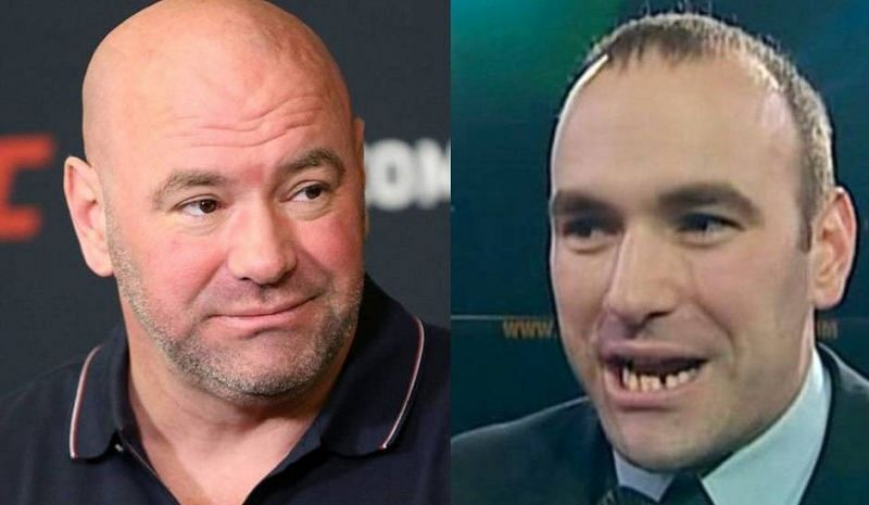 Dana White in recent years (left); Dana White in his younger days (right)