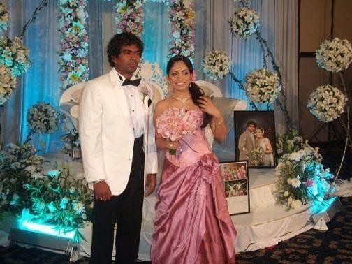 Lasith Malinga's Marriage Ceremony Pic with Tanya Perera