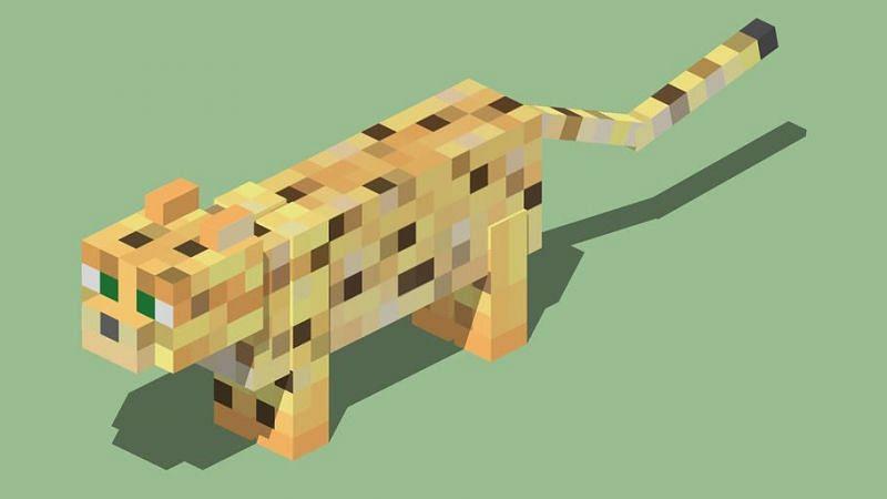 Minecraft ocelot (Image via 3dwarehouse.sketchup.com)
