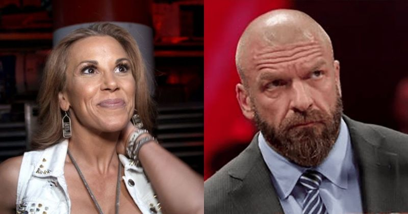 Mickie James and Triple H.