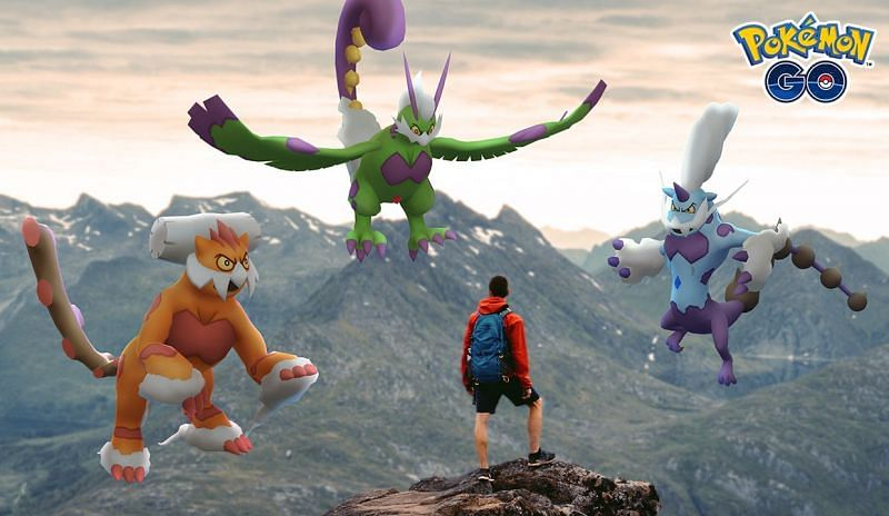 Therian Forme Landorus, Tornadus, and Thunderus (Image via Niantic)