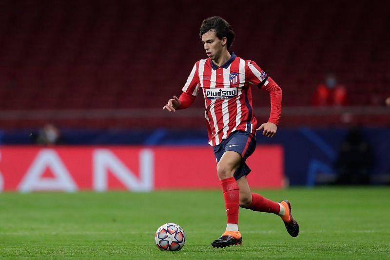 Joao Felix in Atletico Madrid colours