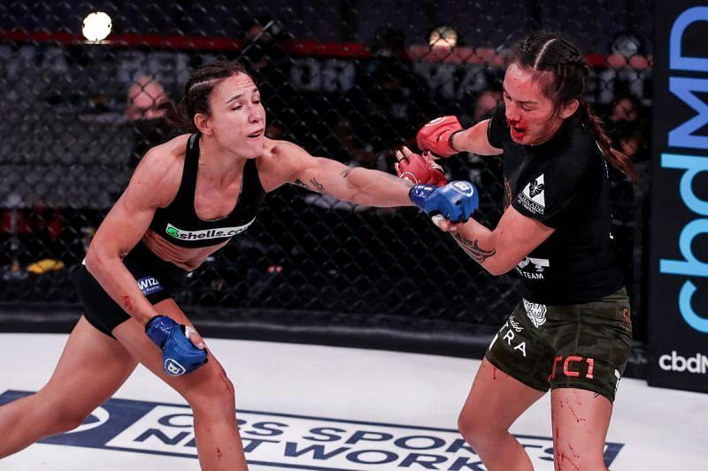 Juliana Velasquez defeated Illima-Lei Macfarlane for the Bellator flyweight title.