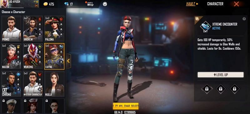 Xayne character in Free Fire (Image via Ungraduate Gamer)