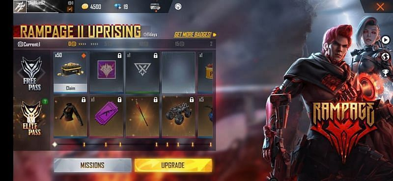 Players can get various skins from the free version of the pass
