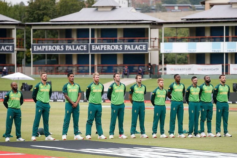 The South Africa players
