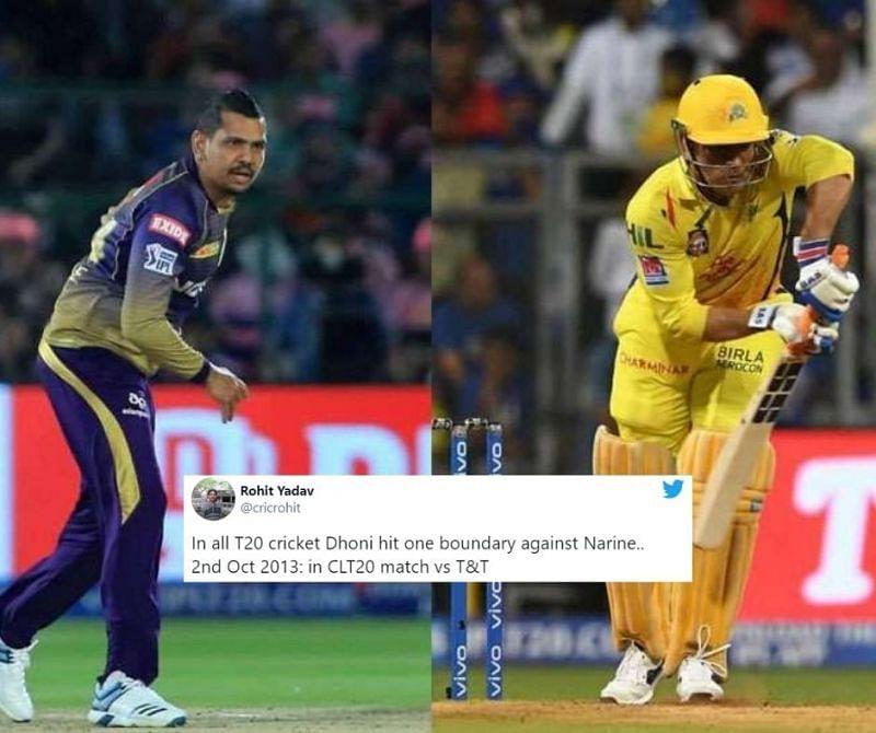 Sunil Narine has had the wood on MS Dhoni