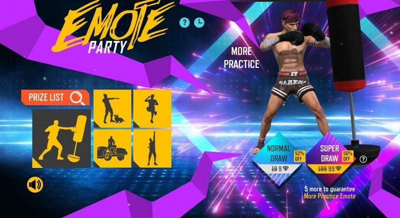 Emote Party commenced on April 29th in Free Fire