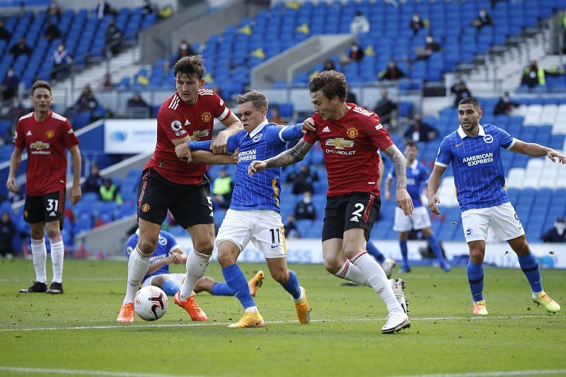 Manchester United and Brighton and Hove Albion lock horns at Old Trafford