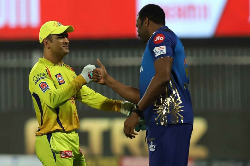 MS Dhoni and Kieron Pollard are among the best finishers in the history of the IPL. (Image Courtesy: IPLT20.com)