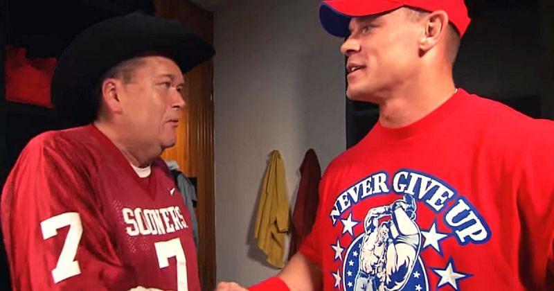 Jim Ross and John Cena.