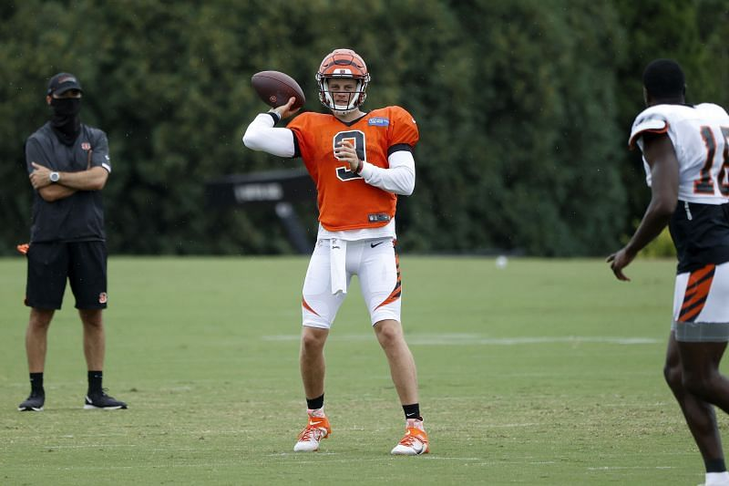 Cincinnati Bengals quarterback Joe Burrow in training camp.