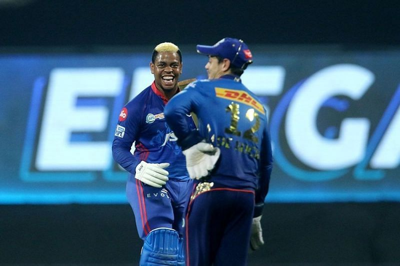 The Delhi Capitals ended their losing streak against the Mumbai Indians by defeating them in IPL 2021 (Image courtesy: IPLT20.com)