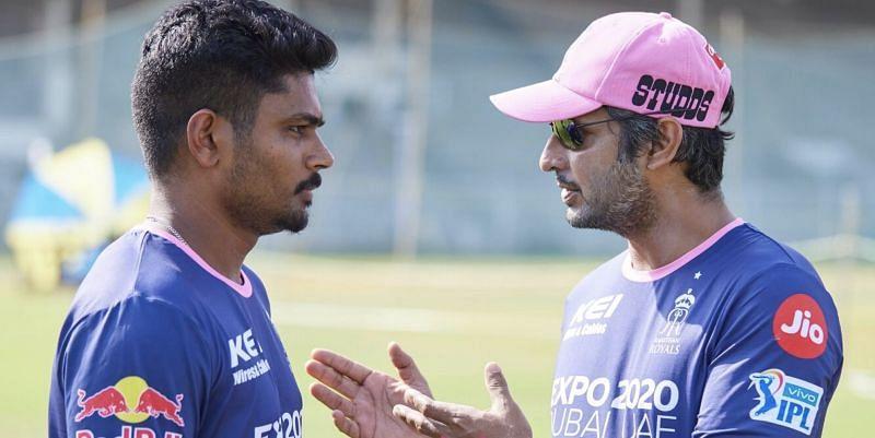 Sanju Samson (left) and Kumar Sangakkara (Photo: RR)