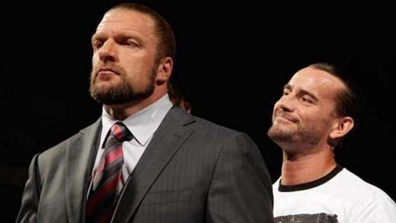 WWE सुपरस्टार ट्रिपल एच और सीएम पंक