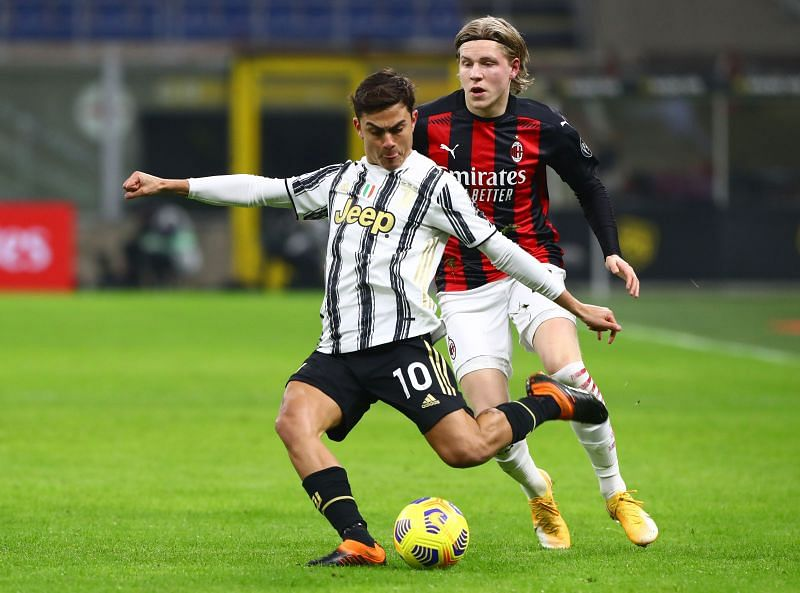 Dybala in action for Juventus