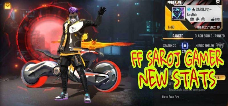 FF Saroj Gamer की Free Fire ID