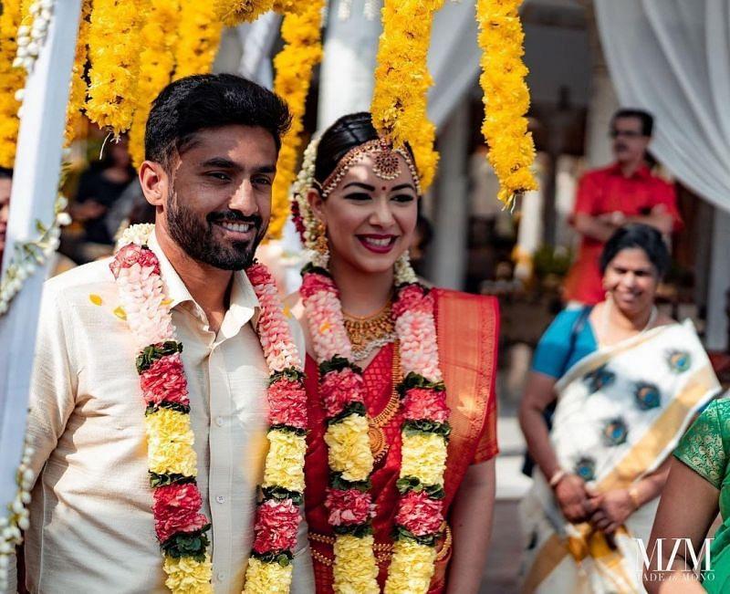 Marriage of Karun Nair and Sanaya Tankariwala